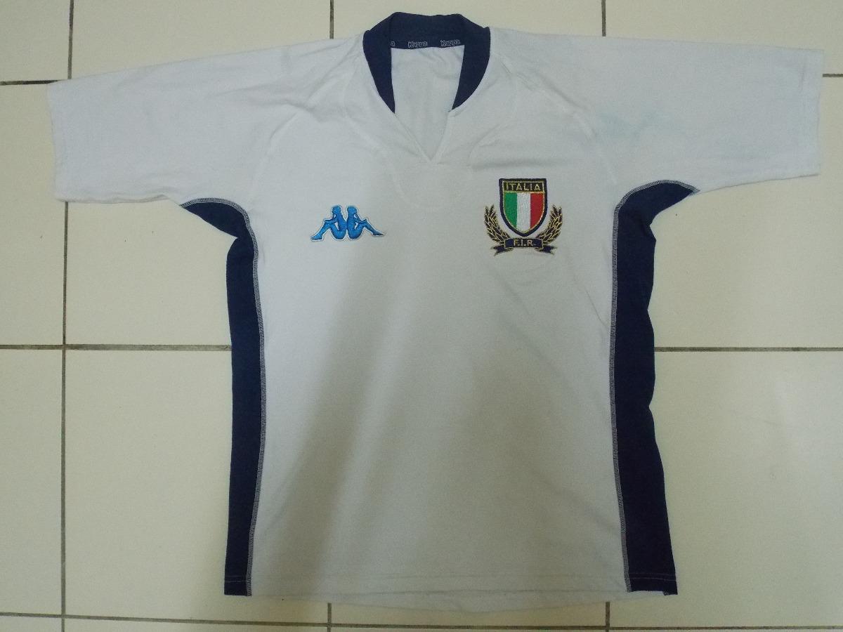 4b785fcc8a Camisa Itália Rugby Kappa Branca Tamanho G - R$ 80,00 em Mercado Livre