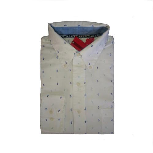 camisa izod regular fit, casual manga larga.
