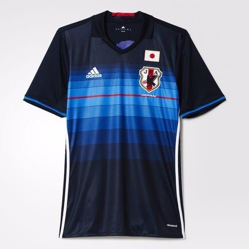 camisa japão seleção 1 home adidas 2016 azul listrada