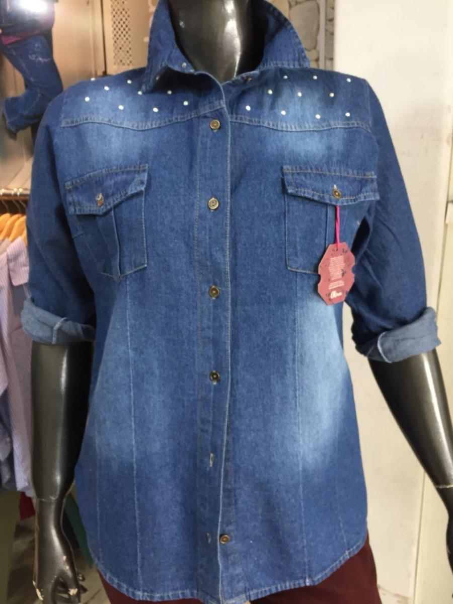 dcadcf8c16 camisa jean perlas mujer moderna talles grandes especiales. Cargando zoom.