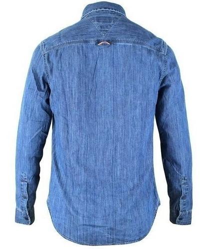 camisa jean tommy hilfiger de hombre original talla medium