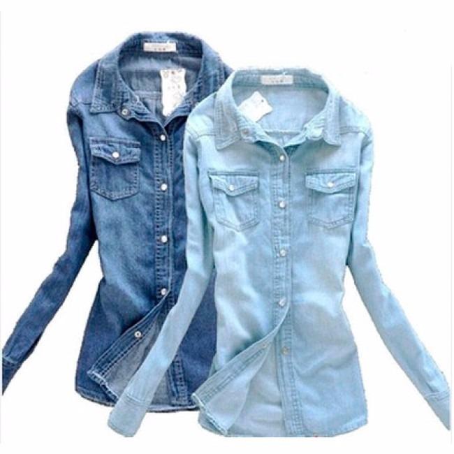 9bffed7863 Camisa Jeans Feminina
