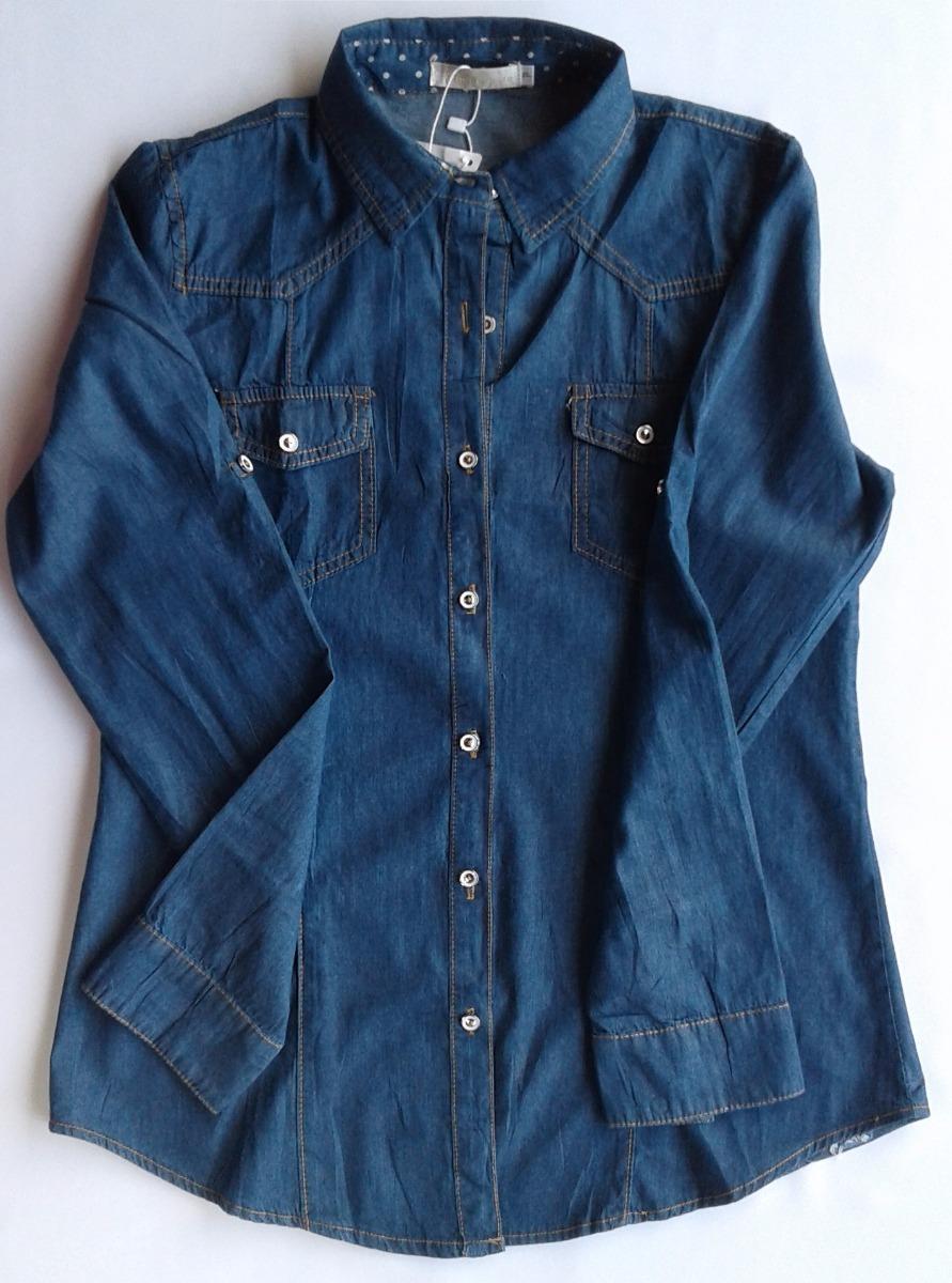 cf7a2b238 camisa jeans feminina fashion escuro preço atacado. Carregando zoom.