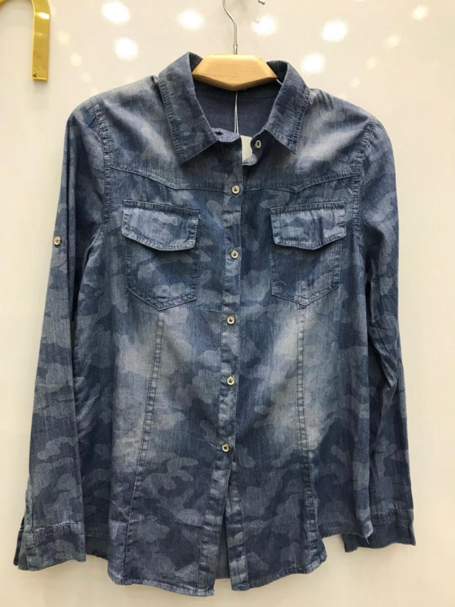 064a7f45b camisa jeans feminina primavera2018 lançamento importar. Carregando zoom.