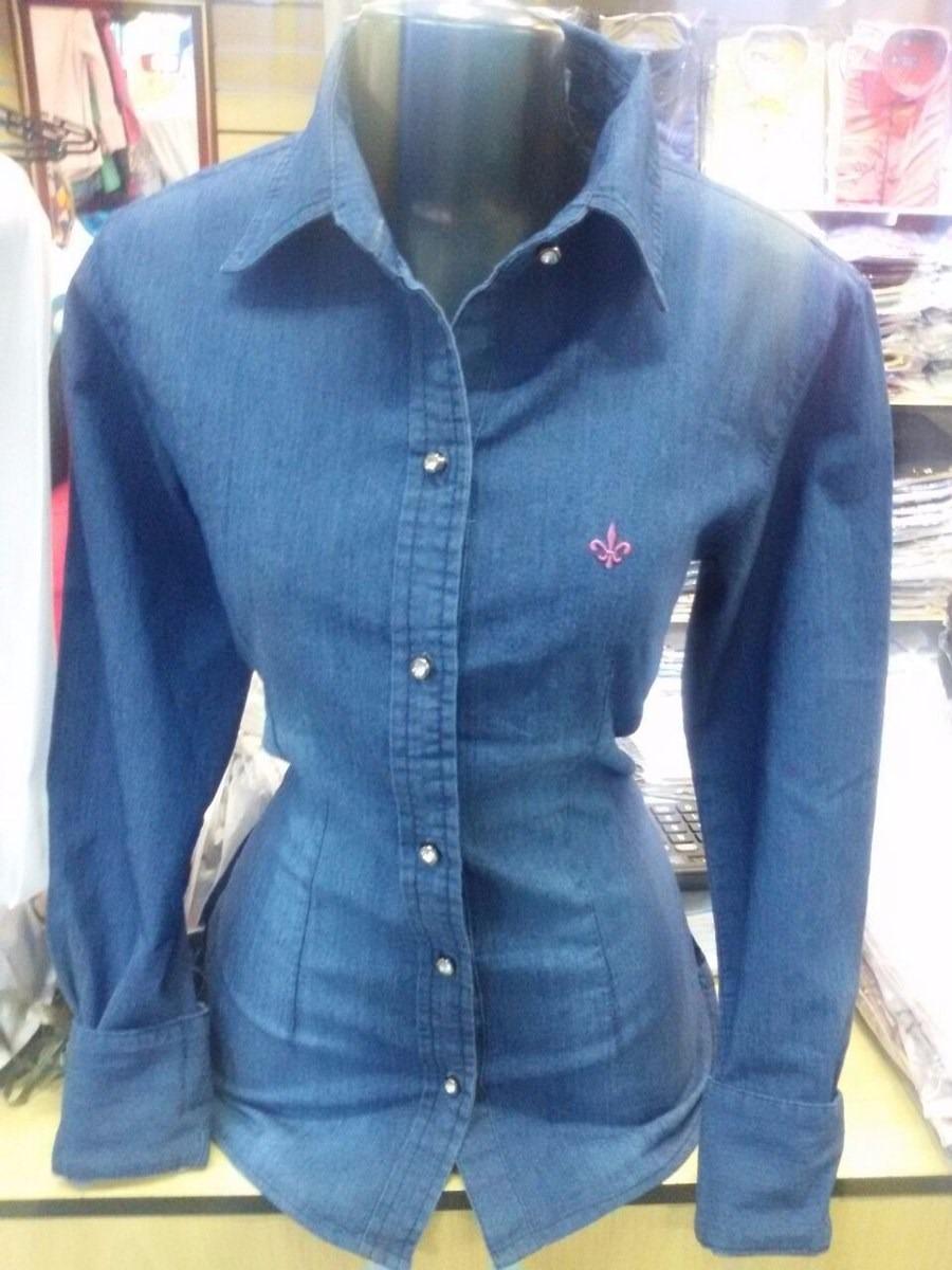 85f8ed97c3 camisa jeans feminina slim modelo novo! frete grátis. Carregando zoom.