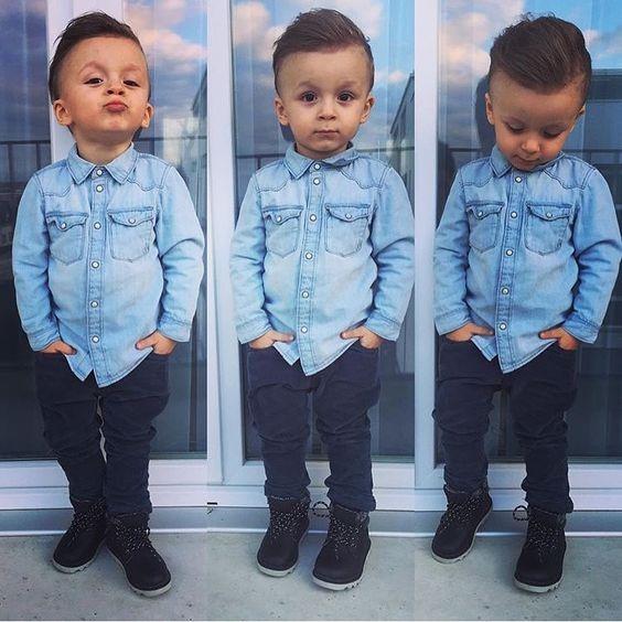 3955365f1f Camisa Jeans Infantil + Calça Preta Skinny - R  109