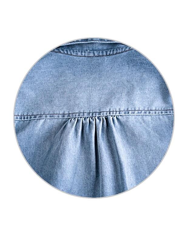 5507555541 Camisa Jeans Infantil Feminina Hering Kids Manga Longa - R  99