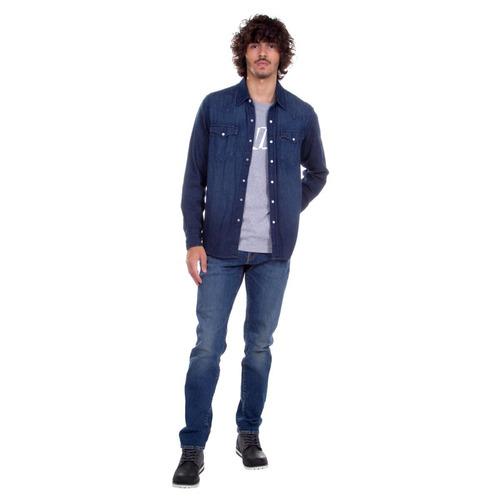 9175925f74 Camisa Jeans Levis Masculina Classic Western Indigo - R  309