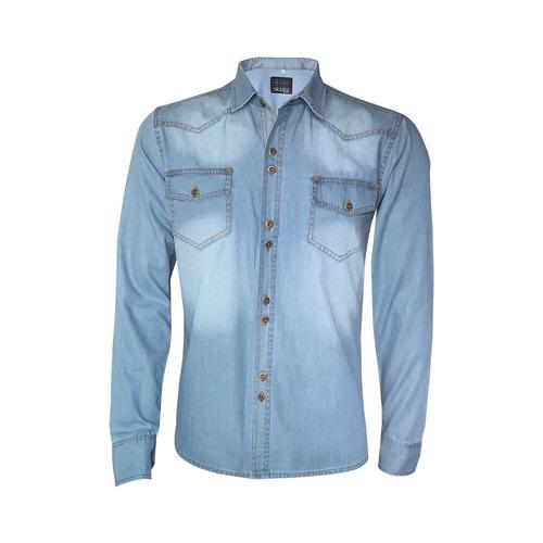 Camisa Blusa Jeans Feminina Manga Longa - Promoção