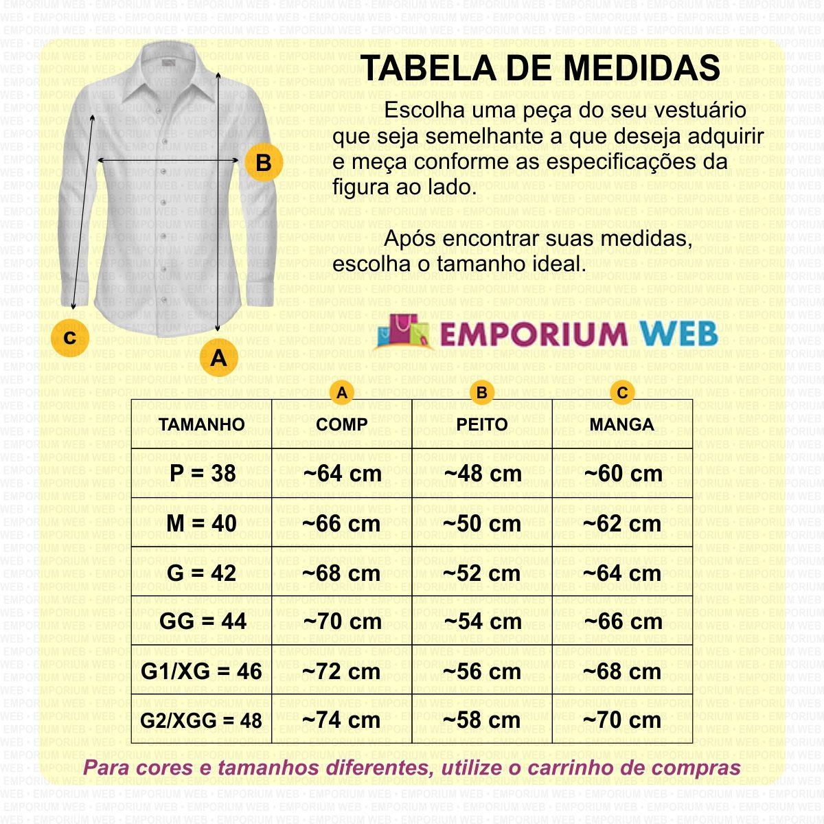 0dead58ac Camisa Jeans Masculina Slim Fit Casual Social Importada Luxo - R  68 ...