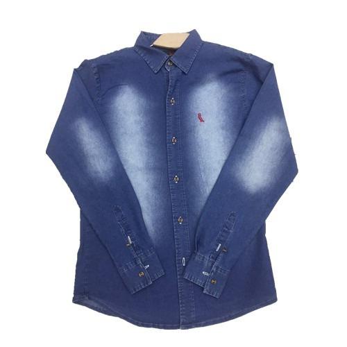 camisa jeans  masculina slim fit pronta entrega
