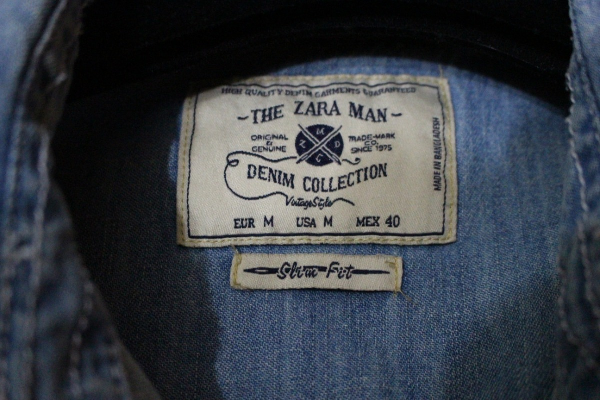 8a4b4c0c74 Camisa Jeans Para Hombre Zara (25 ) Original Talla M - Bs. 5.000