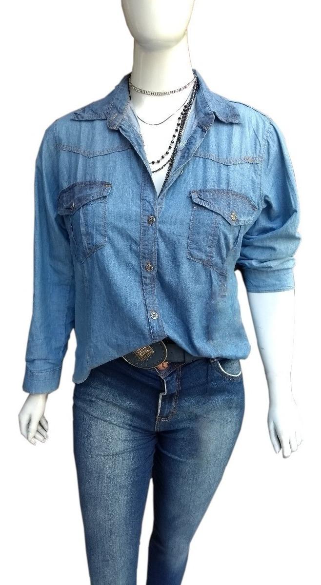 fcdf50976e8d Camisa Jeans Plus Size Feminino Grande - R$ 112,99 em Mercado Livre