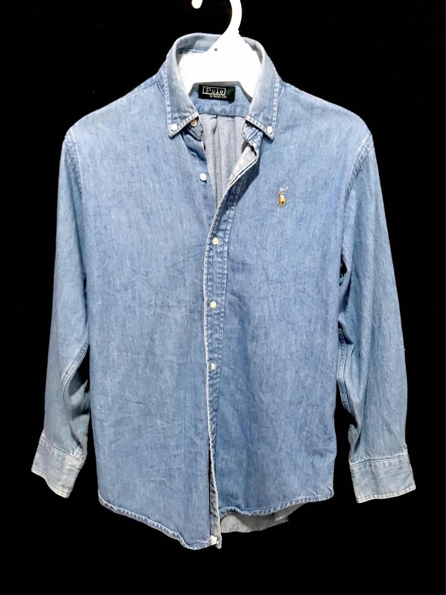 1532297992e8b camisa jeans polo ralph lauren dama 100%algodón made usa med. Cargando zoom.