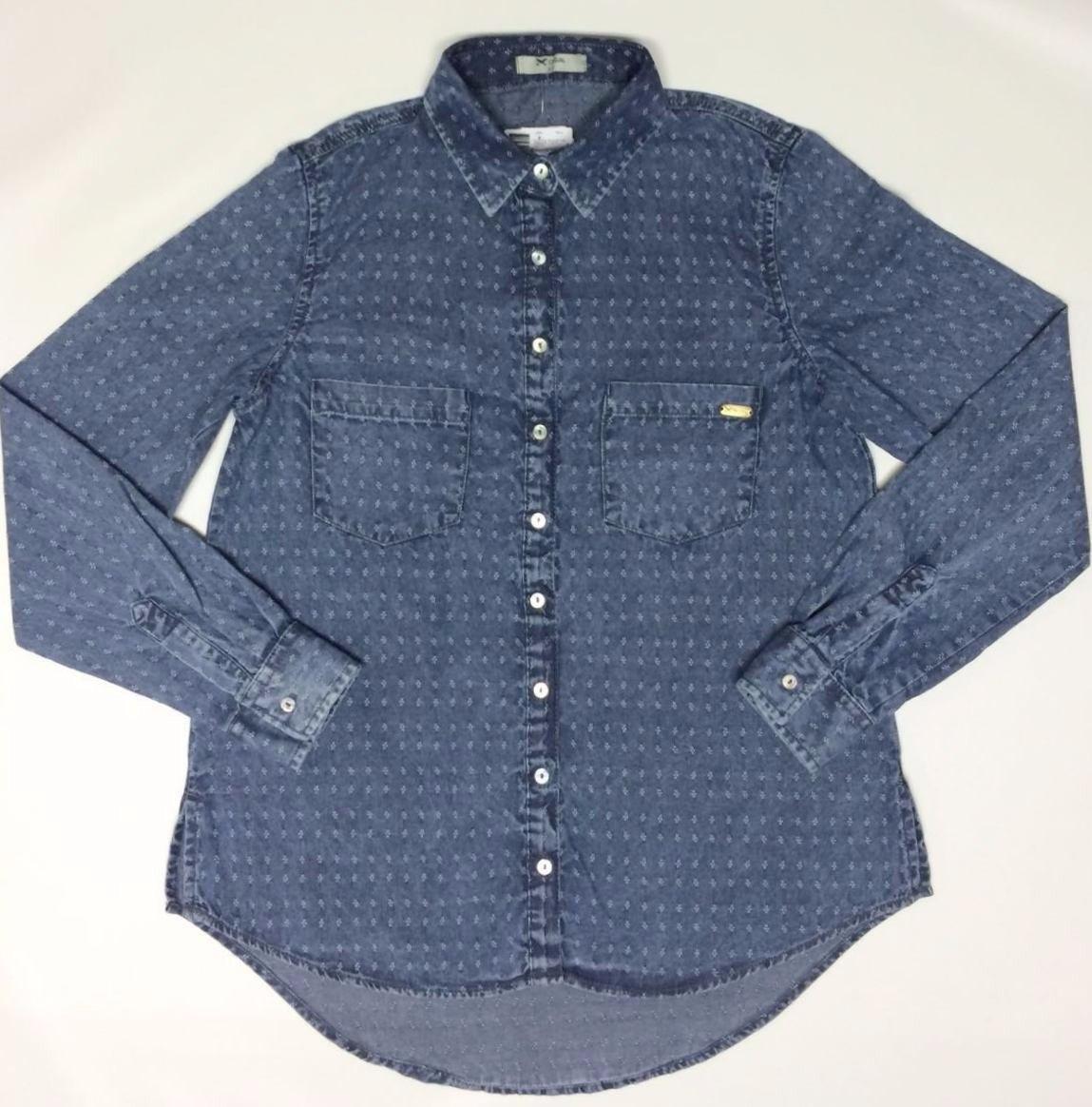 e776bf2cc7 camisa jeans trabalhada manga longa feminina - hering. Carregando zoom.