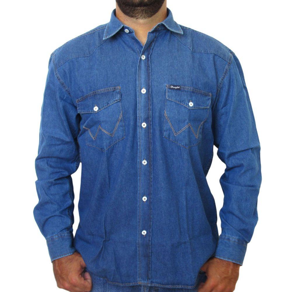0dc0d05b89 Camisa Jeans Wrangler Original 8019 - R$ 139,90 em Mercado Livre