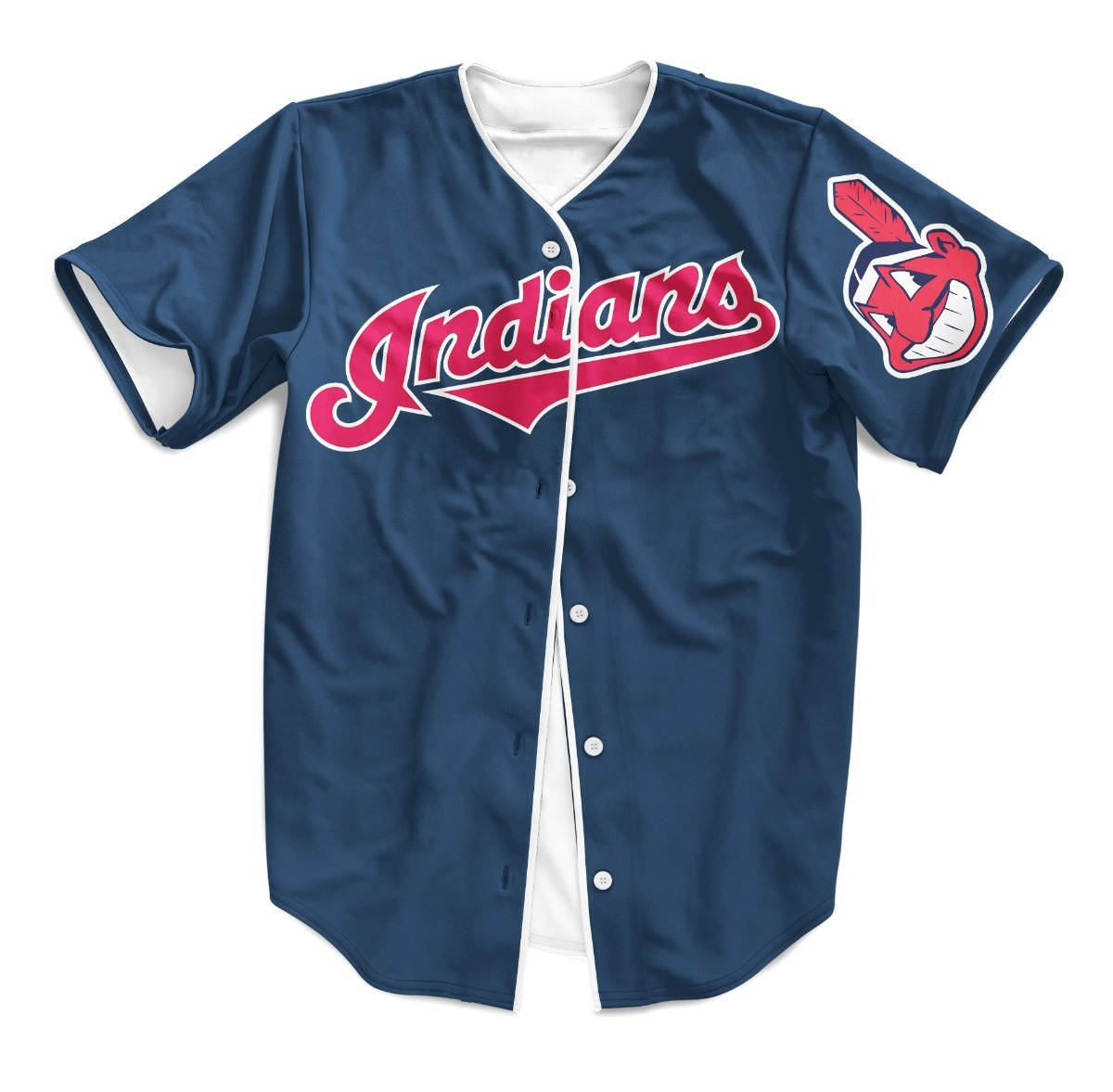 Camisa Jersey Baseball Cleveland Indians Major League - R  179 f2a7b22eb84c5