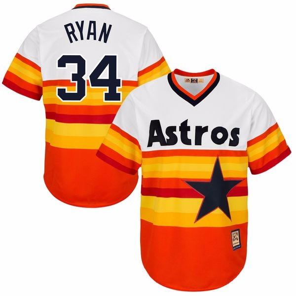 123dfe73e Camisa Jersey Mlb Houston Astros Nolan Ryan Orange - R  169