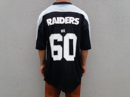 Camisa Jersey New Era Oakland Raiders Nfl Preto Original - R  179 51b4f02e140