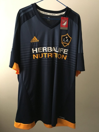camisa jersey oficial los angeles galaxy adidas. ggg (2xl).