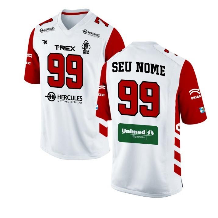 Camisa Jersey T-rex Futebol Americano Oficial Personalizada - R  130 ... 35c82db3b14b1