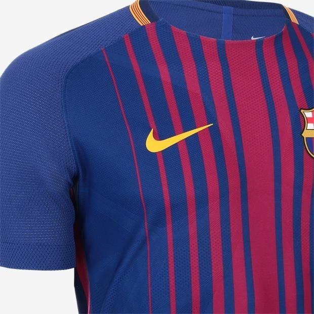 new arrival a11d0 9f681 Camisa Jogador 2017-18 Nike Fc Barcelona Vapor Match Home