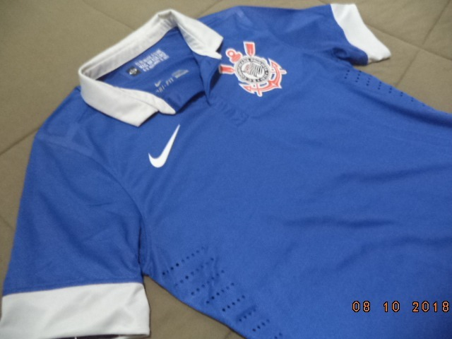 Camisa Jogador Azul Corinthians 2013 2014 - Oficial Nike - M - R ... dfaea584aef04
