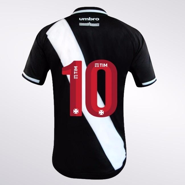 40b649c2074e0 Camisa Jogador Vasco Oficial 1 2017 2018 Número 10 Umbro - R  269