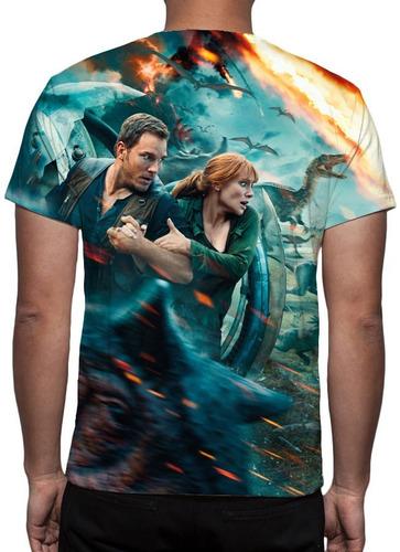 camisa, jurassic world reino ameaçado - frete grátis
