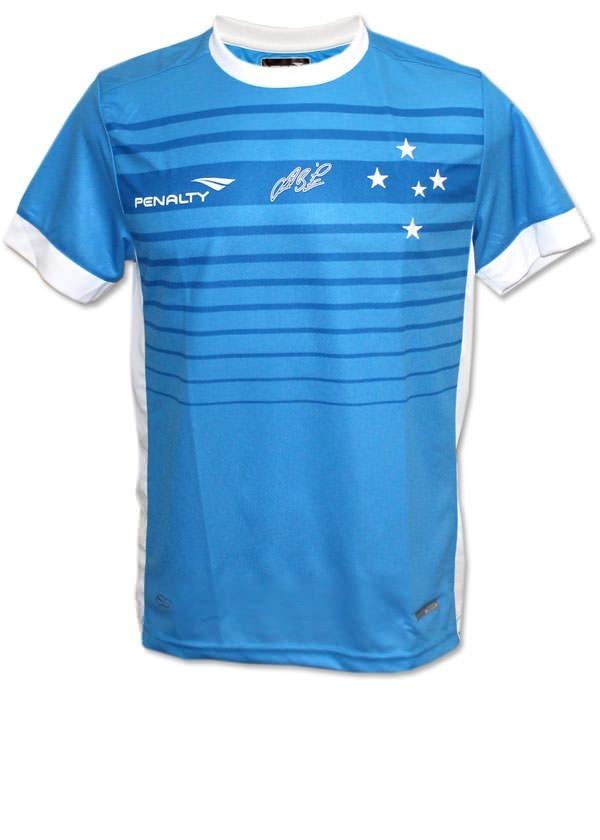 camisa juvenil goleiro 3 cruzeiro 2015 azul original. Carregando zoom. fdc64c8ab8845