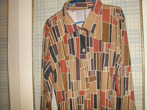 camisa juvenil mangas largas de algodón