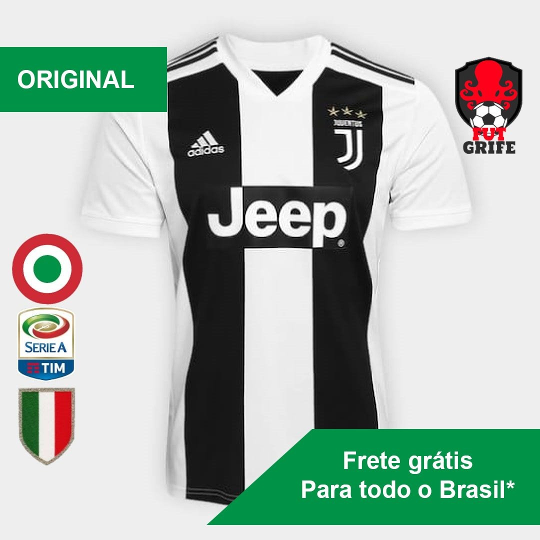 4db776e1c6 camisa juventus 2018 - cristiano ronaldo cr7 - original. Carregando zoom.