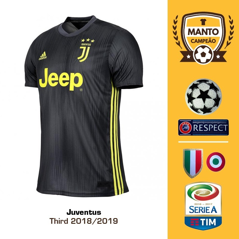 camisa juventus 2018 2019 third uniforme 3 ronaldo dybala. Carregando zoom. c217862884d73