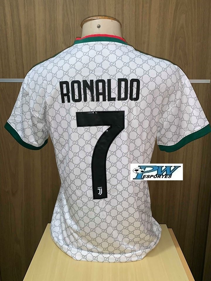 wholesale dealer 4f7e7 4c4d7 Camisa Juventus adidas Gucci 2019 #7 Cristiano Ronaldo