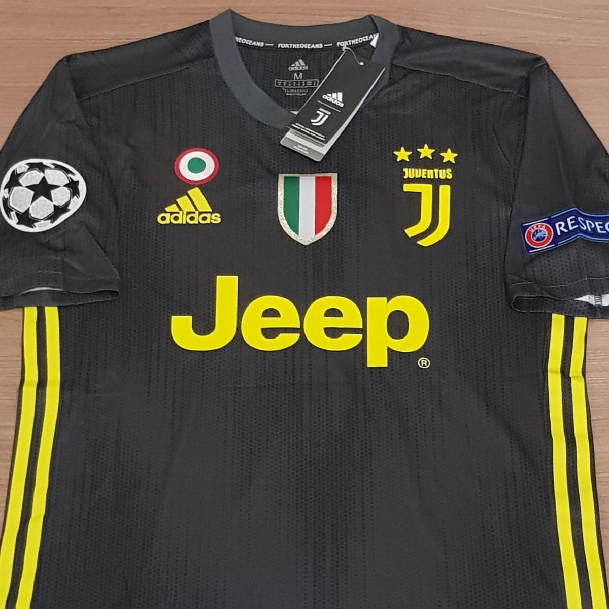 separation shoes e4ff7 ec9df Camisa Juventus Away Ronaldo 7 Climachill Pronta Entrega