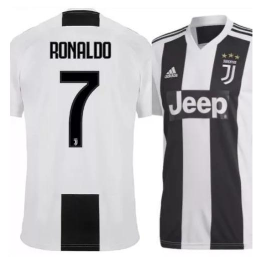 062386ecc Camisa Juventus Cr7 Cristiano Ronaldo Uniforme 1 2018 2019 - R  189 ...