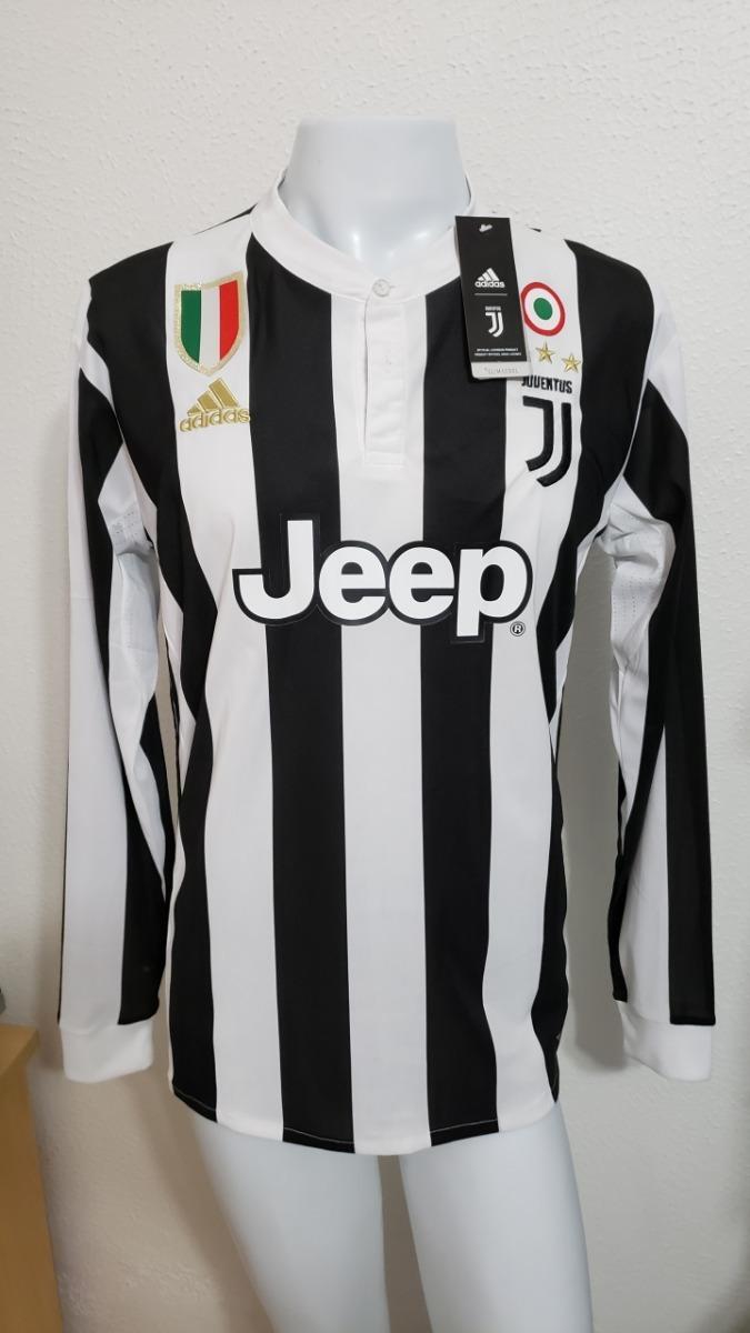 fe4b67b6f camisa juventus home 17-18 manga longa dybala 10 calcio. Carregando zoom.