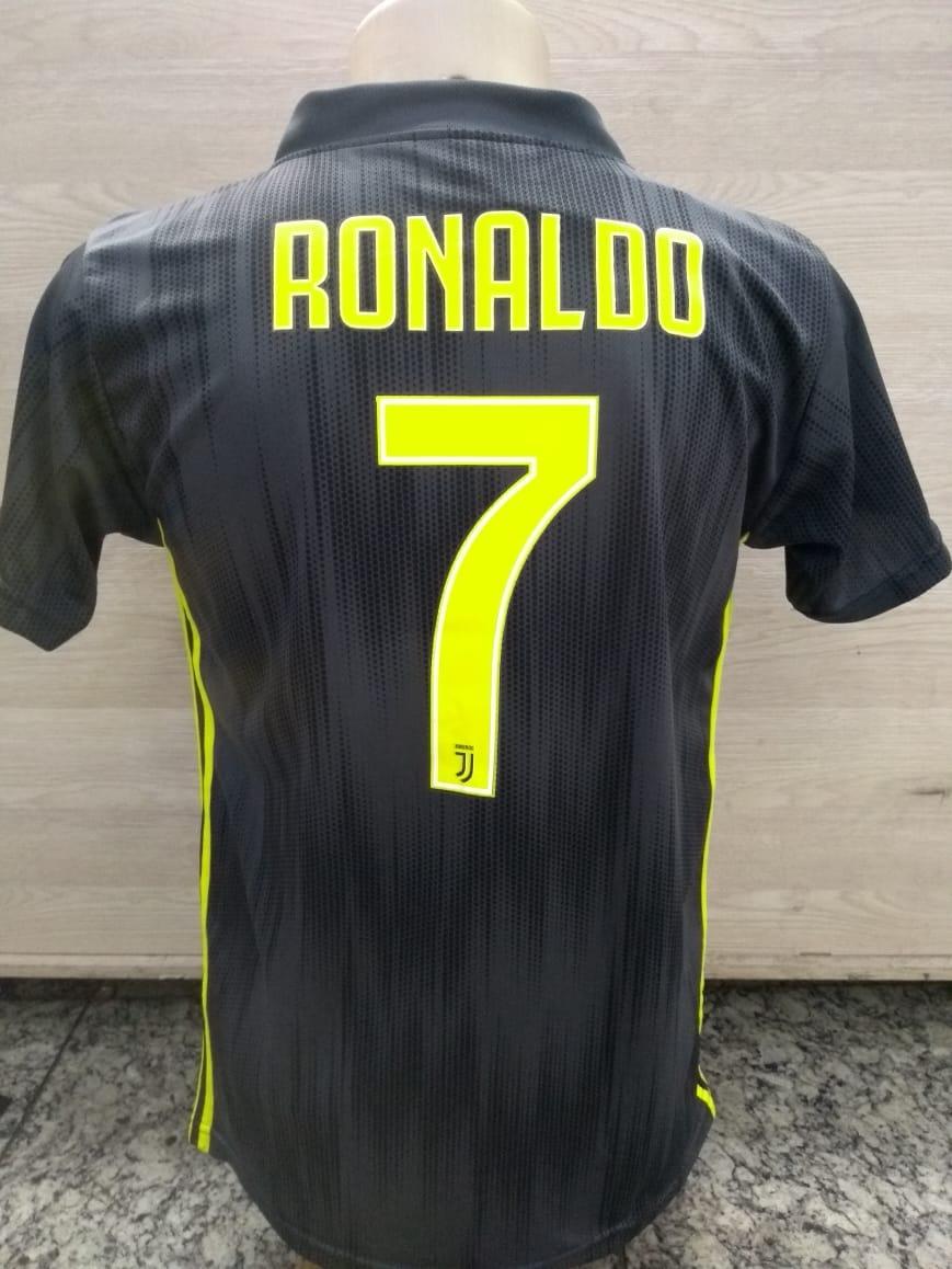 Camisa Juventus - Italia - 2018 - Cristiano Ronaldo - Cr7 - R  59 597b10aae4bef