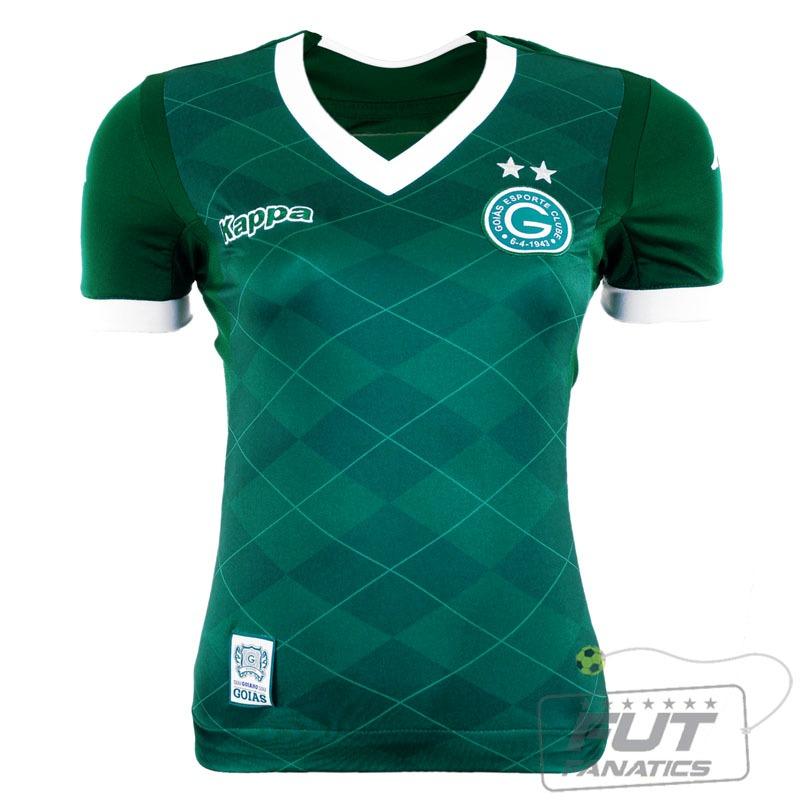 ee46033a840 Camisa Kappa Goiás I 2015 Feminina - Futfanatics - R  49