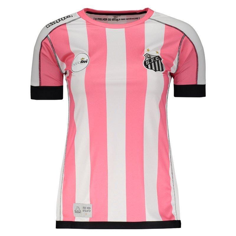 camisa kappa santos ii 2017 feminina outubro rosa. Carregando zoom. 9234f95508526