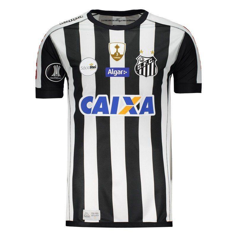 camisa kappa santos ii 2017 libertadores. Carregando zoom. 4953c065c6ea6