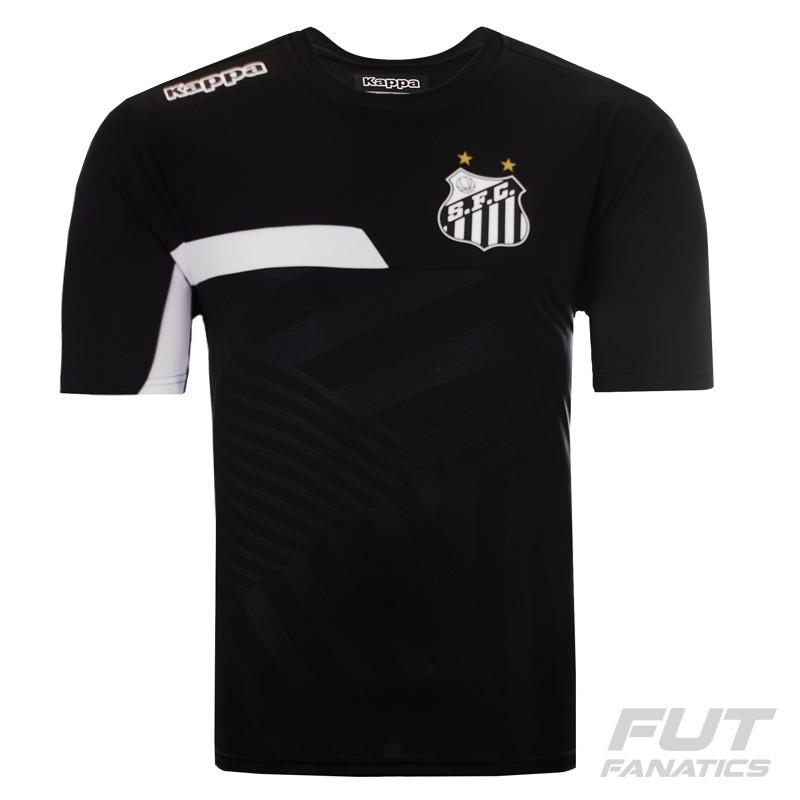 a03278d8ca camisa kappa santos treino 2016 preta - futfanatics. Carregando zoom.