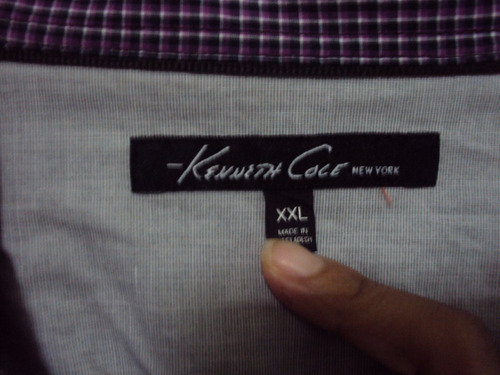 camisa kenneth cole para caballeros