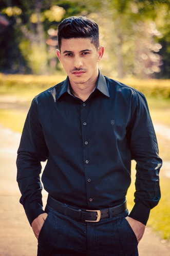 camisa kyrillos masculina fio 60 100% algodão ref. k5000915m