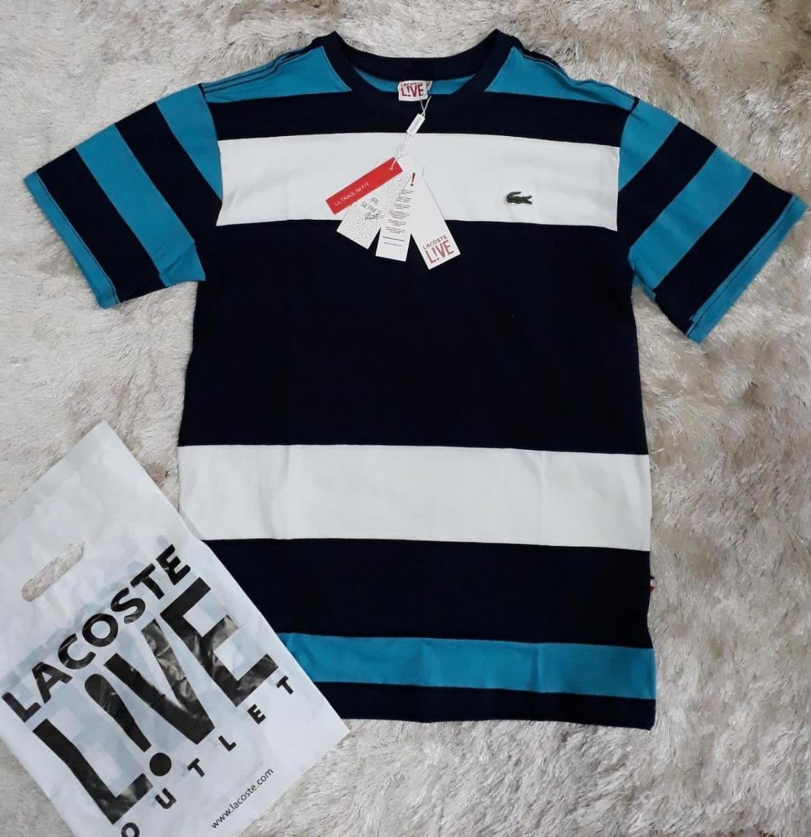 f3c1bed839dca Camisa Lacoste 8 Peças Originais - R  450,00 em Mercado Livre