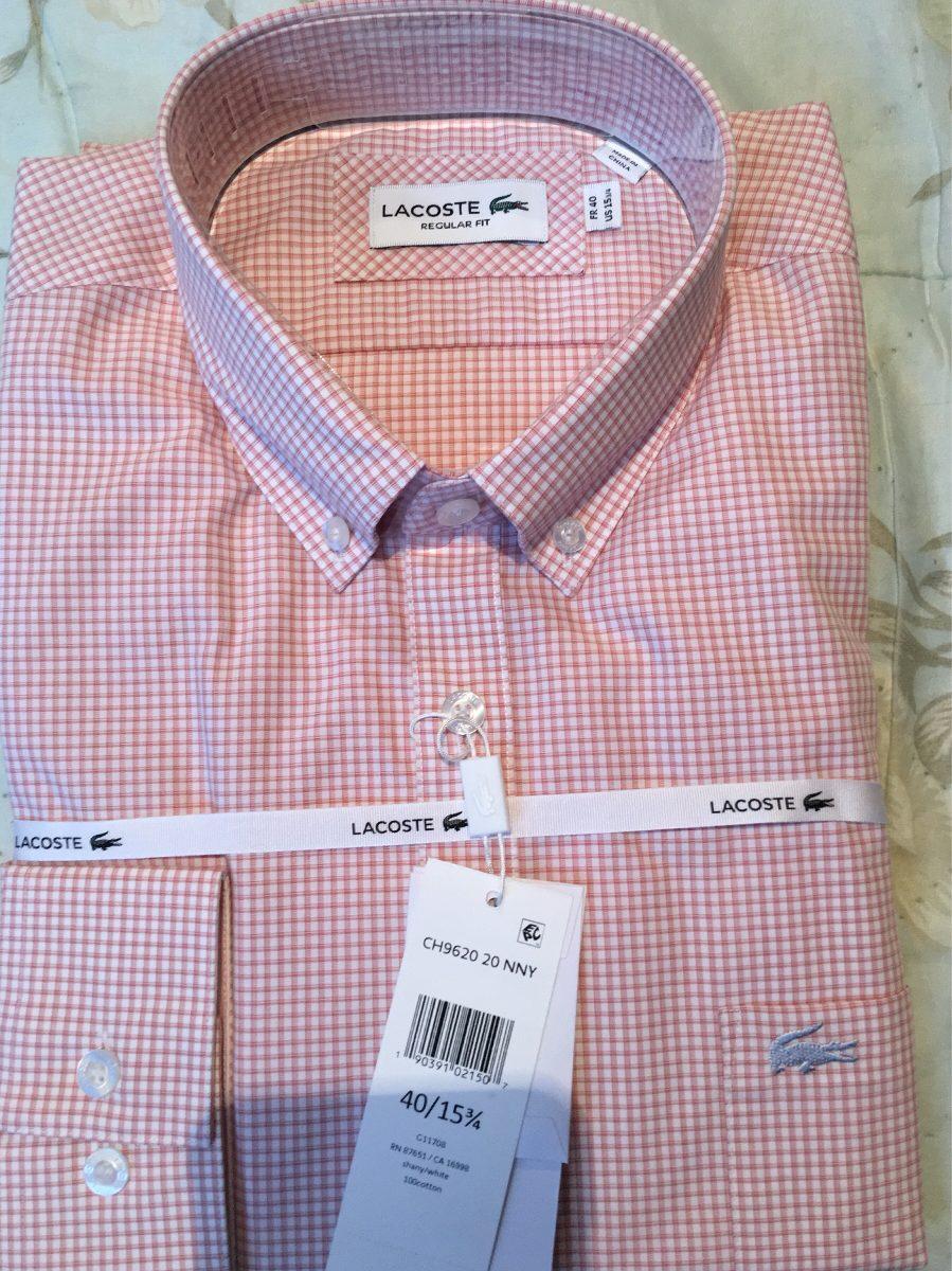 95bf6572d36 camisa lacoste a cuadros de vestir nueva temporada. Cargando zoom.