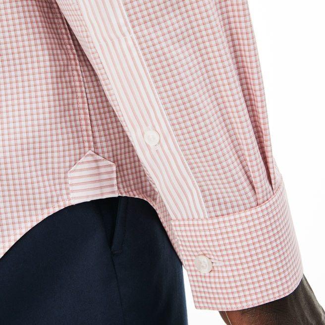 8019fb3d9e0 Camisa Lacoste A Cuadros De Vestir Nueva Temporada -   1