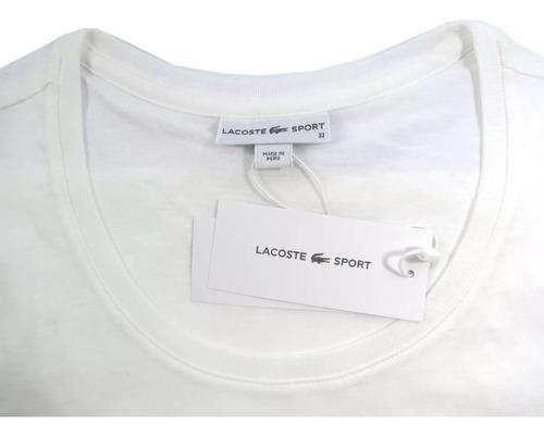 camisa lacoste feminina branca original tam32
