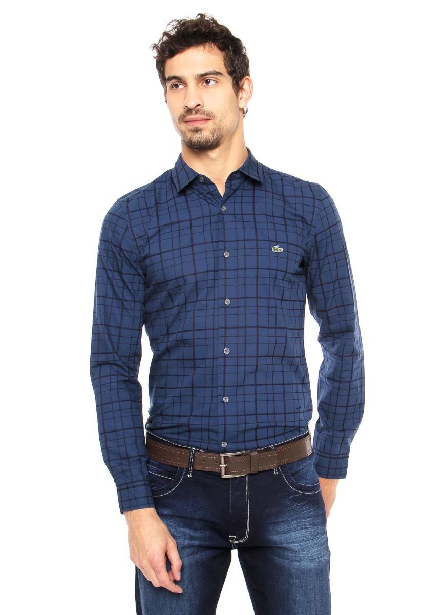 2c5841bf26b3f Camisa Lacoste Hombre Cuadros Slim Fit Ch 3772 -   2.355,00 en ...