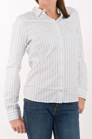 d5a3b6a2c64 Camisa Lacoste Listrada Feminina Bca Original Nova